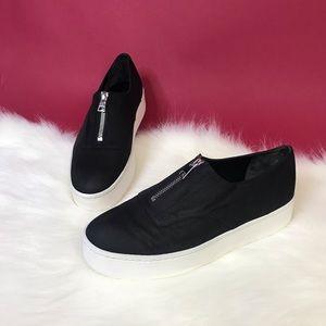 Vince Warner Suede Leather Zip Flatform Sneaker